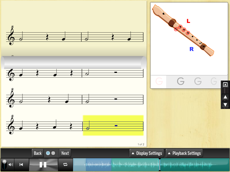 Music Explorer tool for recorder